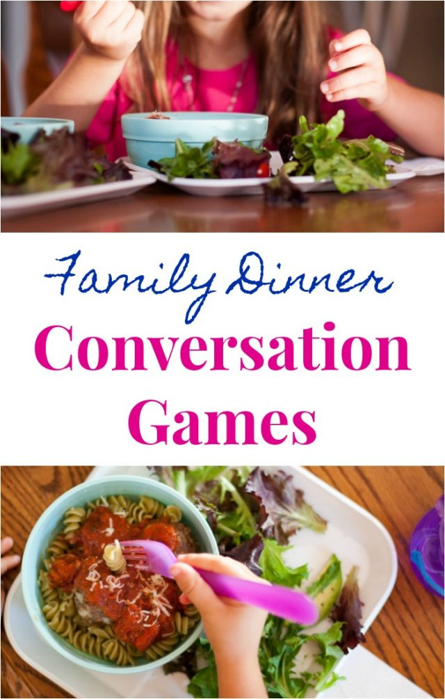 Conversation Games for the Family Dinner Table
