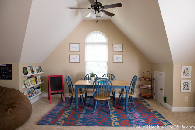 homeschool kindergarten room design