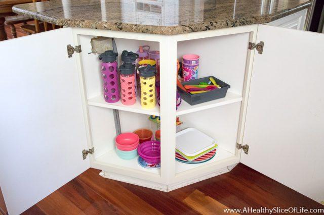 kids' low kitchen cabinet