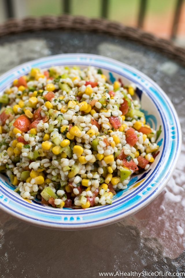 summer vegetable barley salad