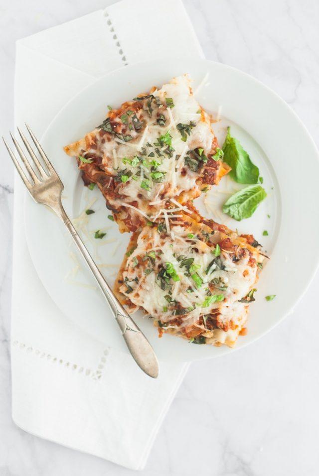 Butternut, Spinach and Mushroom Lasagna Roll-Ups