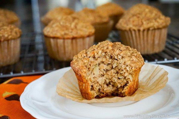 Apple Cinnamon Oat Muffins | A Healthy