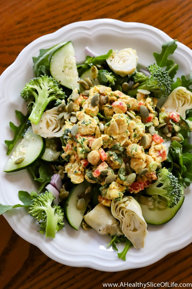 chickpea salad lunch