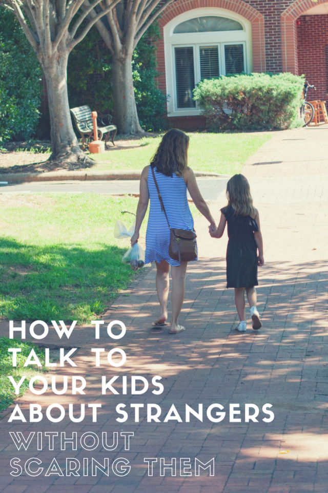 teaching kids about strangers without scaring them