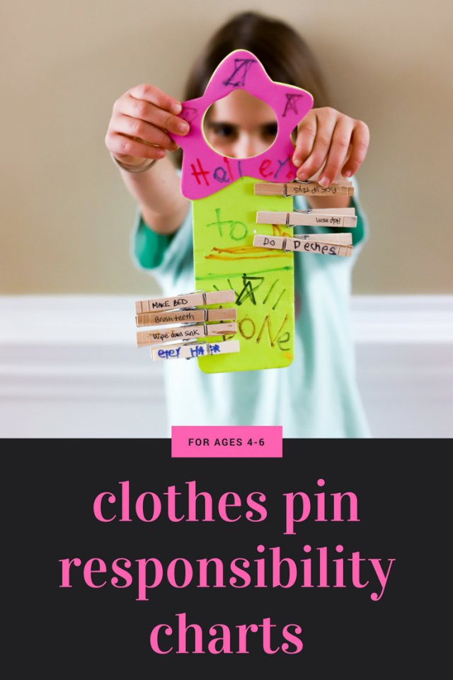 clothes pin responsibility chart for kids