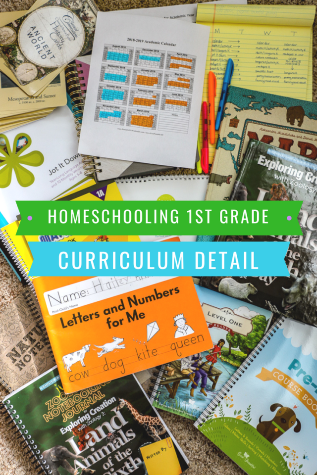 First Grade Homeschool Curriculum details