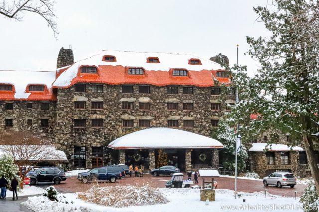 Omni Grove Park Inn in snow