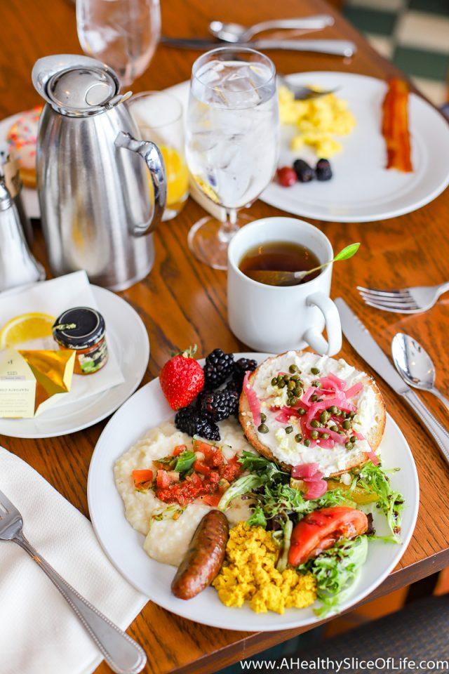 December Grove Park Inn breakfast buffet