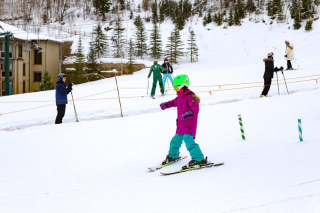 deer valley family ski trip ski school