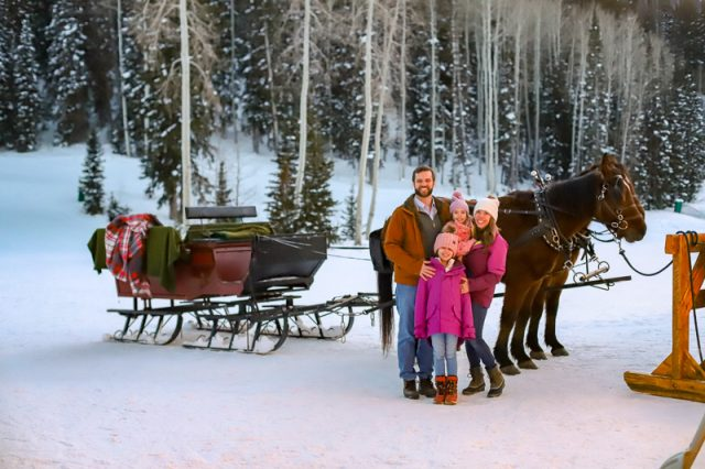 deer valley fireside dining experience sleigh ride
