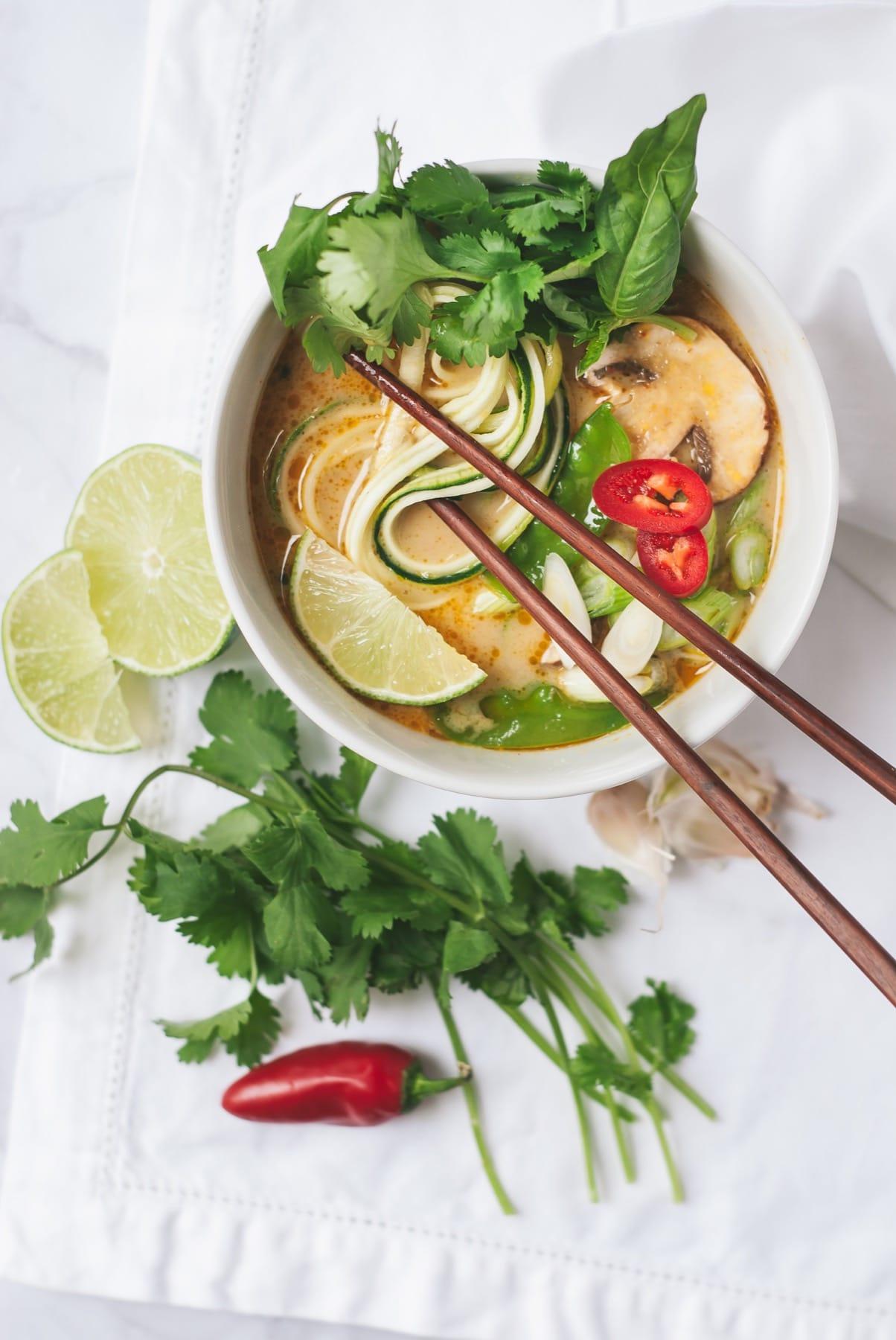 Coconut Curry Zoodle Soup
