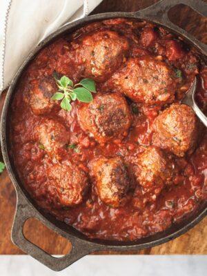 Paleo Meatballs in Marinara
