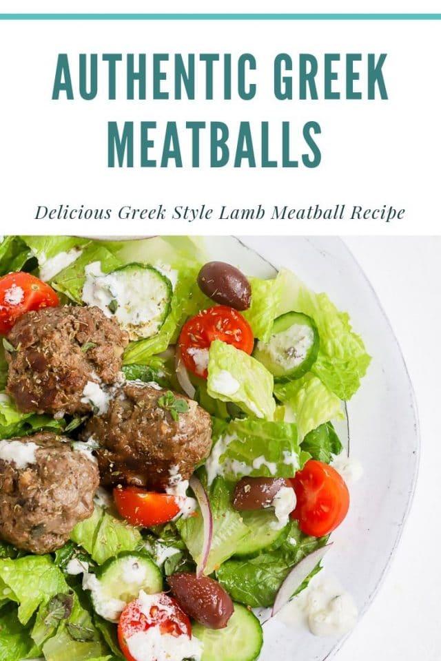 greek lamb meatball