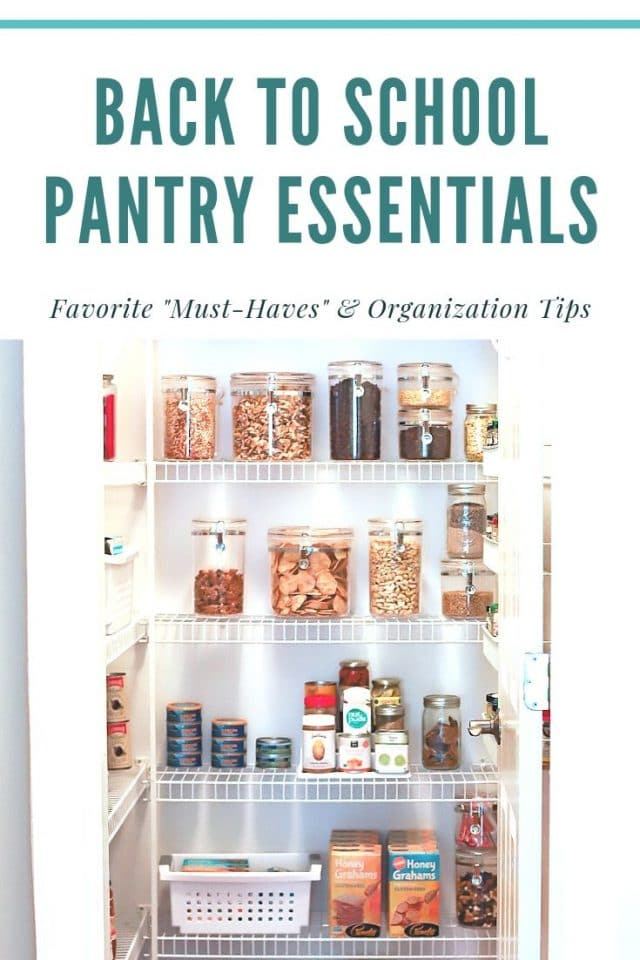pantry organization and favorites