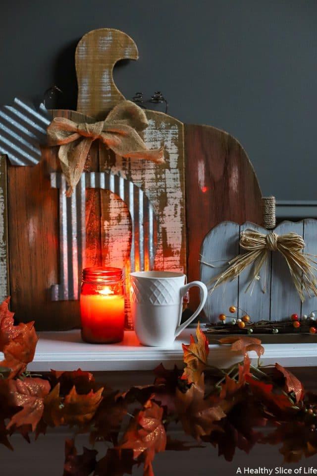 tea and fall decor