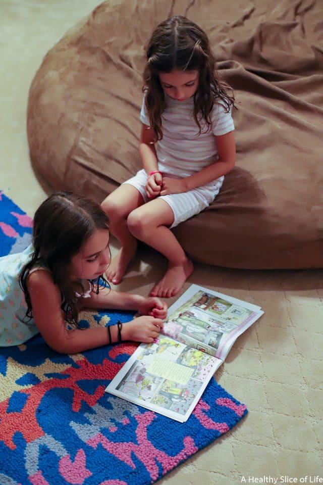 kid reading bedtime