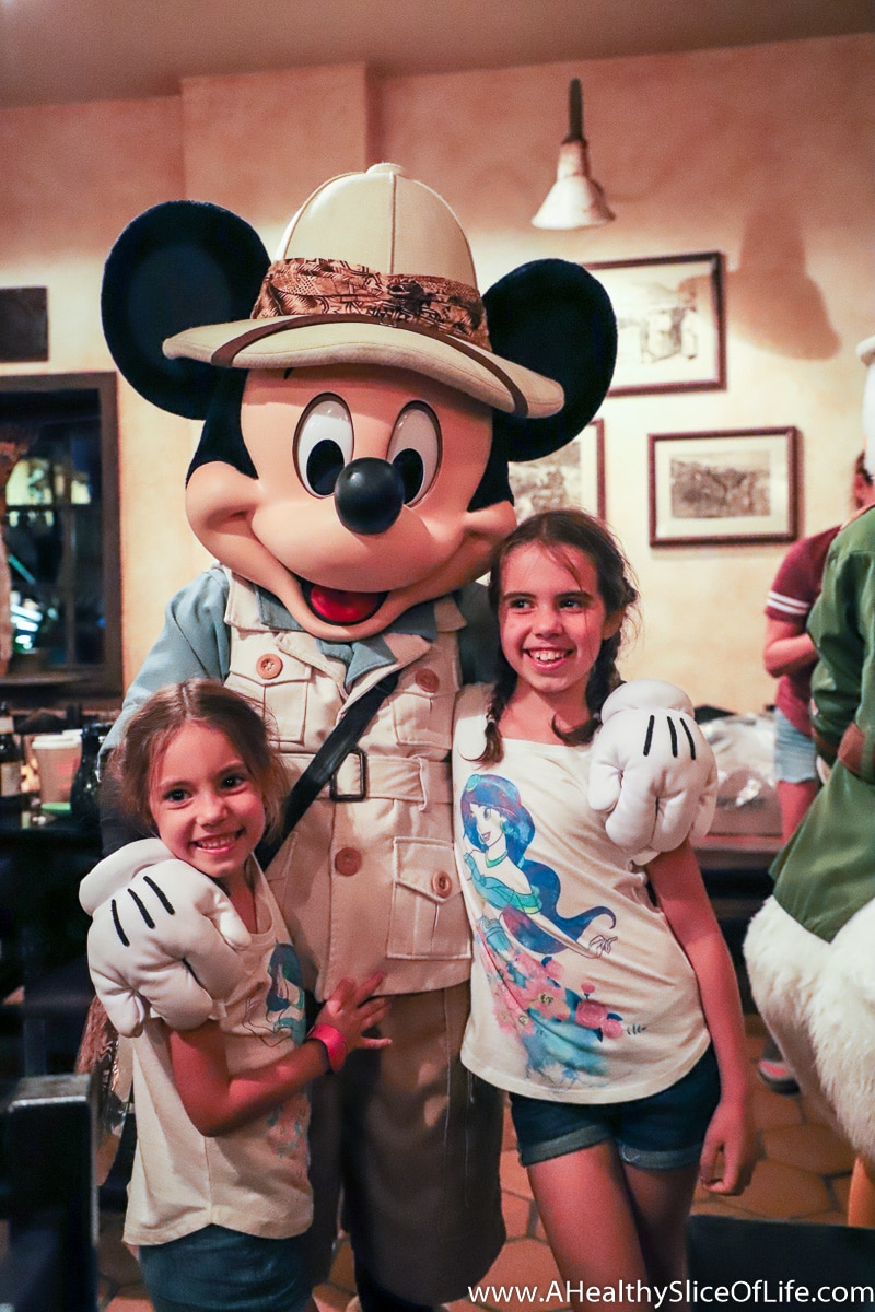 Mickey Mouse at The Tusker House Dinner