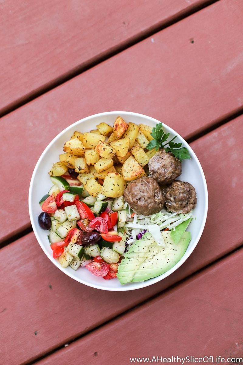 greek paleo dinner bowl