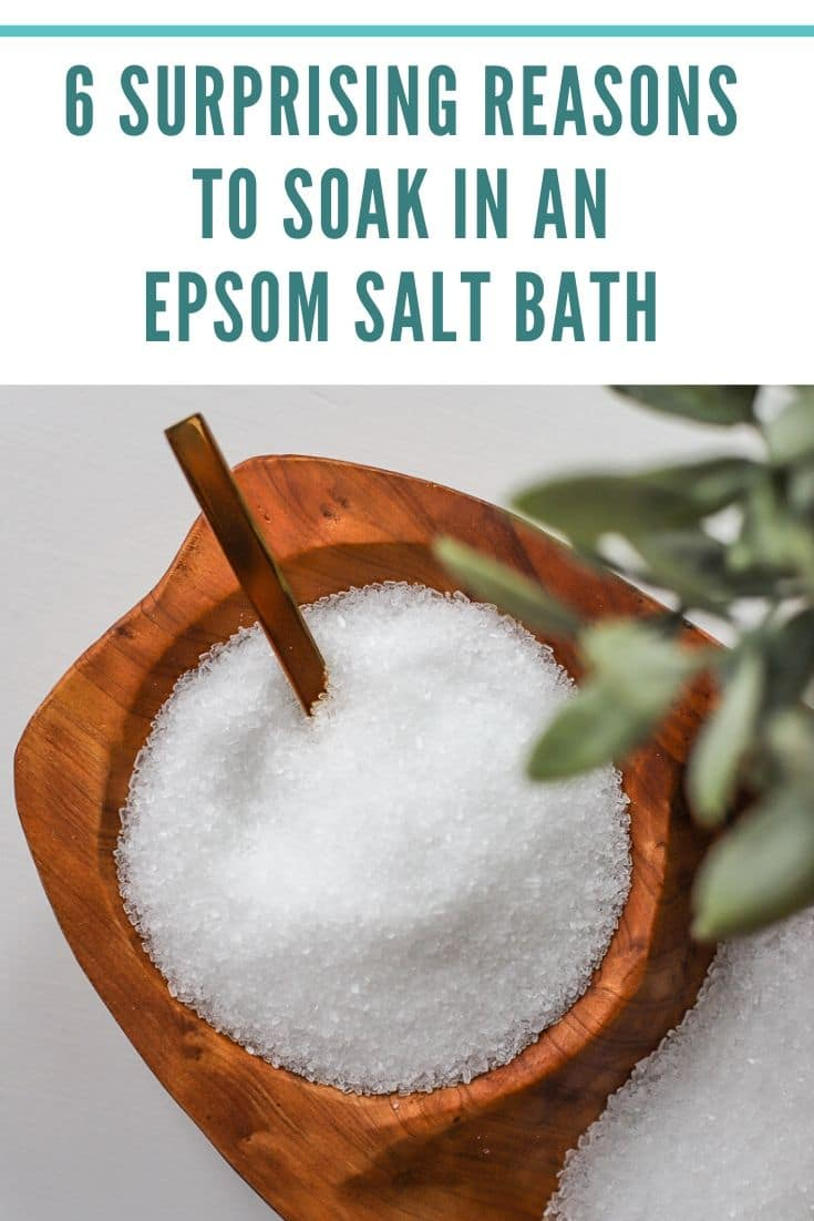 why to soak in an Epsom salt bath