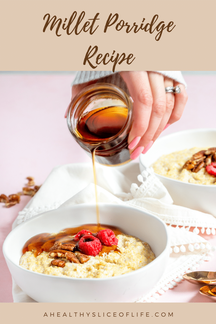 millet porridge with maple syrup