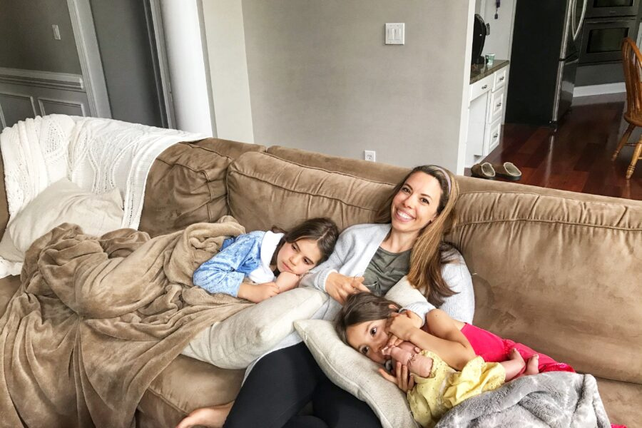 family mom snuggle