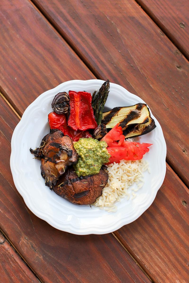 A Healthy Slice of Life - dinner - marinated portobello bowl