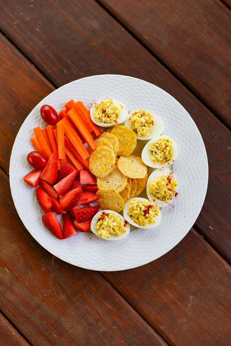snack plate kid lunch- a healthy slice of life