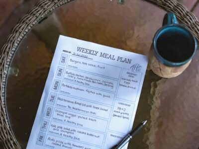weekly meal plan printable