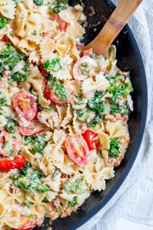 sausage pasta cream